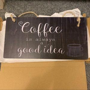 NWT coffee sign